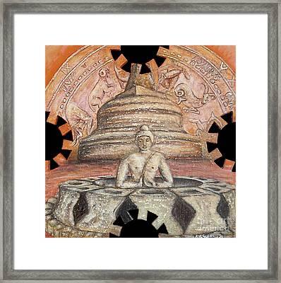 Borobudur Framed Print by Anna Maria Guarnieri