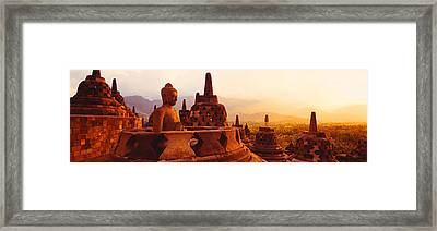 Borobudur Buddhist Temple Java Indonesia Framed Print by Panoramic Images