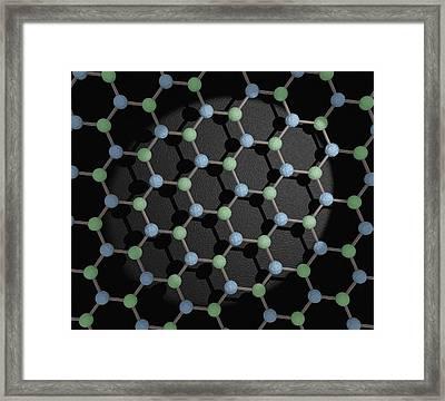 Boron Nitride Framed Print by Robert Brook