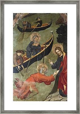Borrassa, Llu�s 1360-1425. Altarpiece Framed Print by Everett