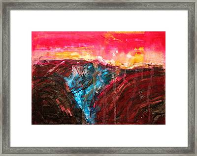 Borrego Badlands Original Painting Framed Print by Sol Luckman