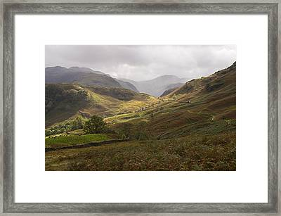 Borrowdale Towards Great Gable Framed Print by Pete Hemington