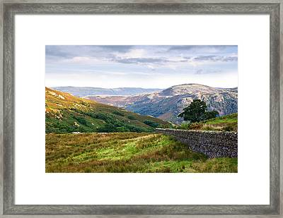 Borrowdale Valley In The Lake District Framed Print by Jane McIlroy