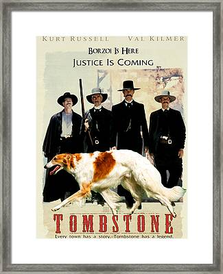 Borzoi Art - Tombstone Movie Poster Framed Print