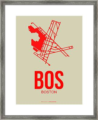 Bos Boston Airport Poster 1 Framed Print