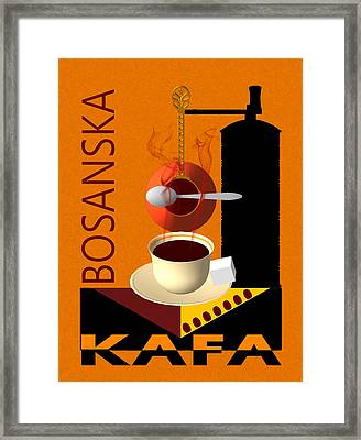 Bosanska Kafa  Framed Print by Toro Tan