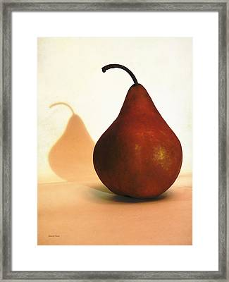 Bosc Pear Sees Its Shadow Framed Print