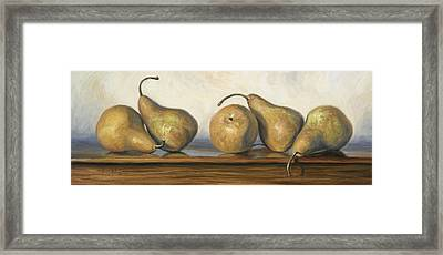 Bosc Pears Framed Print by Lucie Bilodeau