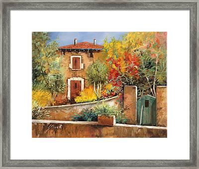 Bosco Giallo Framed Print by Guido Borelli
