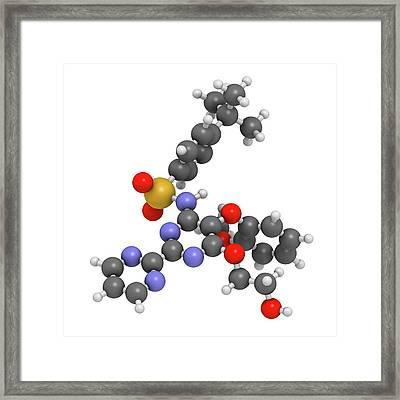 Bosentan Hypertension Drug Molecule Framed Print by Molekuul
