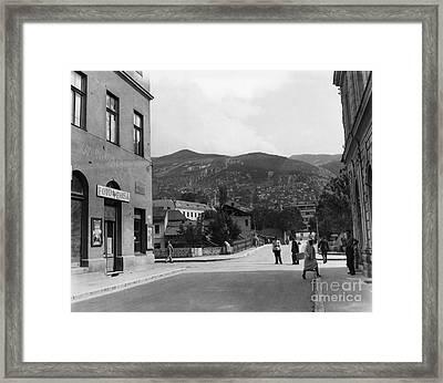 Bosnia - Sarajevo C1947 Framed Print by Granger