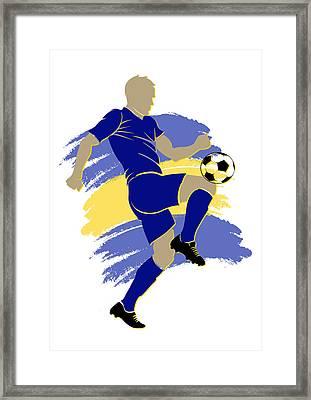 Bosnia Soccer Player Framed Print