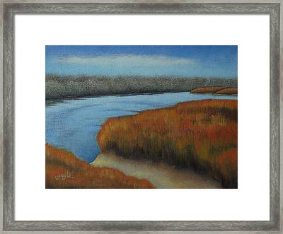 Bosque View Framed Print by Gayle Faucette Wisbon