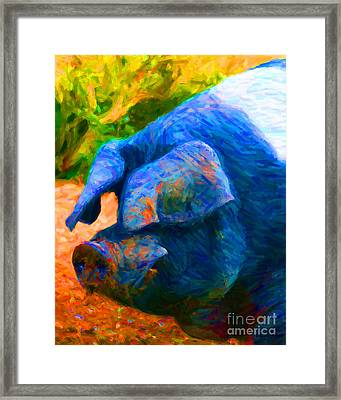 Boss Hog - 2013-0108 Framed Print by Wingsdomain Art and Photography