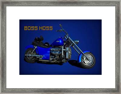 Boss Hoss Chevy V8 Motorcycle Framed Print by Tim McCullough
