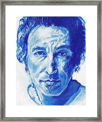 Boss In Blue Framed Print by Paul Smutylo