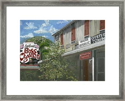 Boss Oyster Framed Print by Susan Richardson