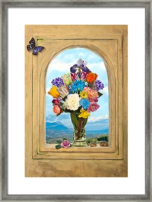 Bosschaert - Flowers In A Large Roemer Framed Print by Levin Rodriguez