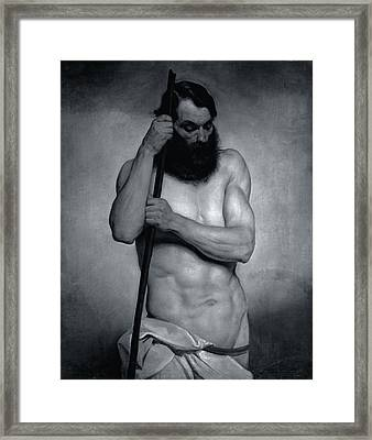 Bossi Giovanni, Academic Study Of Nude Framed Print by Everett