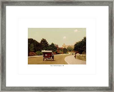 Boston - Back Bay Fens Speedway - 1915 Framed Print by John Madison