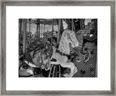 Boston 011 Bw Framed Print