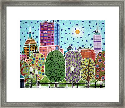 Boston Abstract Framed Print