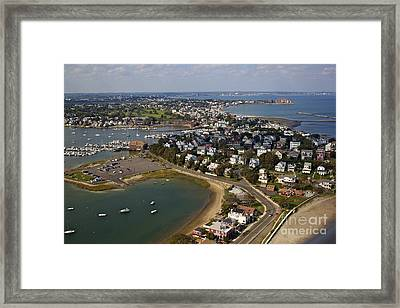 Boston Aerial View Framed Print by Alanna DPhoto