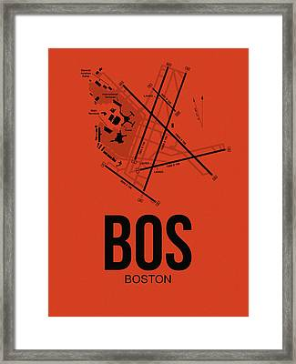 Boston Airport Poster 2 Framed Print by Naxart Studio