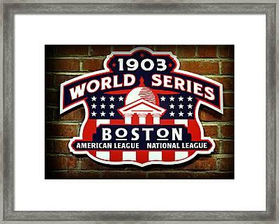Boston Americans 1903 World Champions Framed Print