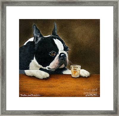 Boston And Bourbon... Framed Print by Will Bullas
