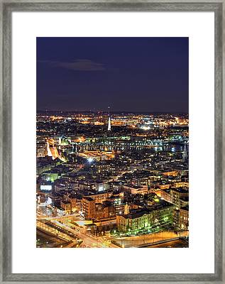 Boston And The Bunker Hill Monument Framed Print by Joann Vitali