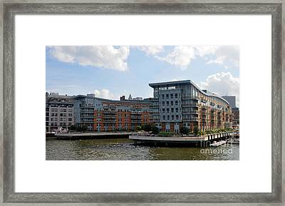Boston Apartments Framed Print
