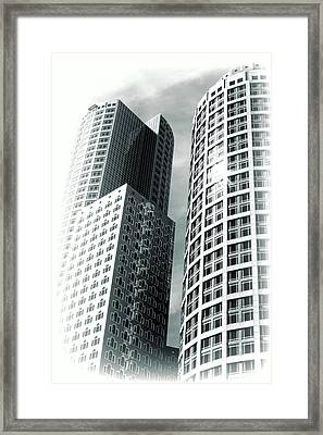 Boston Architecture Framed Print by Fred Larson