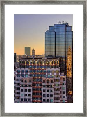 Boston Architecture Reflections Framed Print by Joann Vitali
