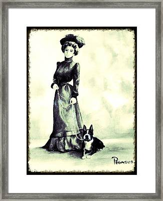 Boston Beauties 3 - Vintage Collection Framed Print by Beverly Pegasus