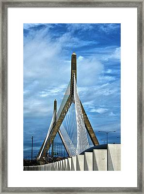 Boston Bridge Framed Print by Melanie McKinney