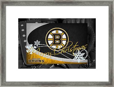 Boston Bruins Christmas Framed Print by Joe Hamilton