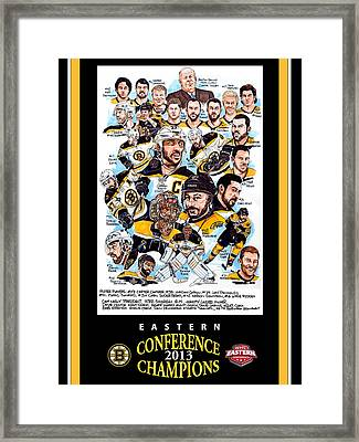 Boston Bruins Framed Print by Dave Olsen