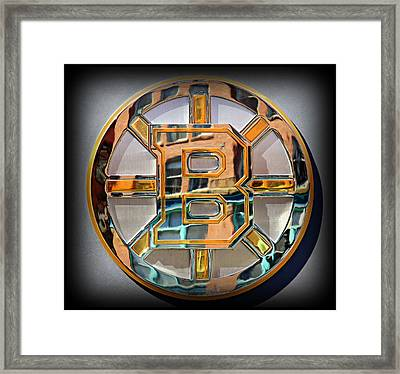 Boston Bruins Framed Print by Stephen Stookey