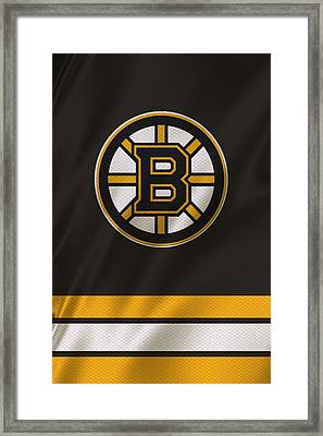 Boston Bruins Uniform Framed Print by Joe Hamilton