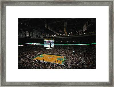 Boston Celtics Basketball Framed Print by Juergen Roth