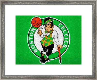 Boston Celtics Canvas Framed Print by Dan Sproul