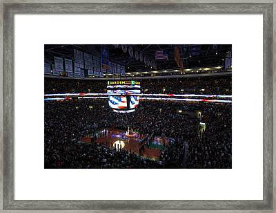 Boston Celtics Under The Star Spangled Banner Framed Print by Juergen Roth
