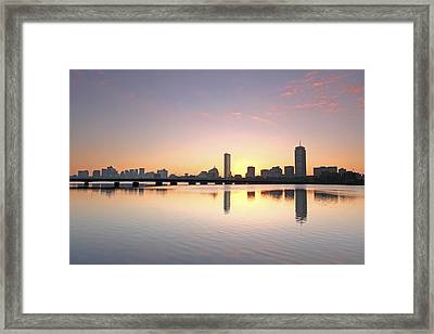 Boston Charles River Morning Bliss Framed Print by Juergen Roth