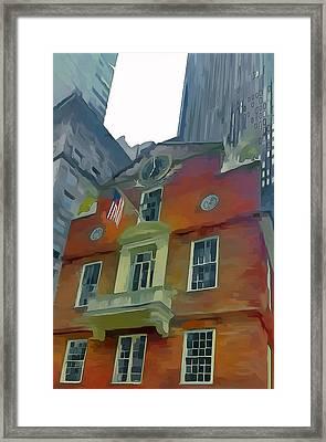 Boston City Center 3 Framed Print by Yury Malkov