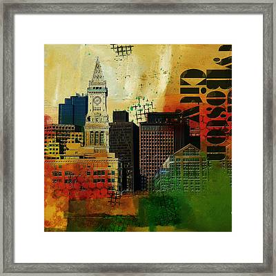 Boston City Collage 2 Framed Print by Corporate Art Task Force