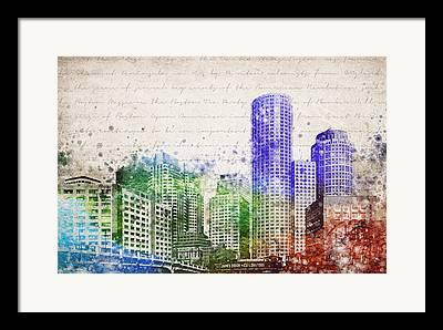 Charles River Mixed Media Framed Prints