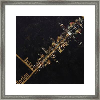 Boston City Skyline Framed Print by Corporate Art Task Force