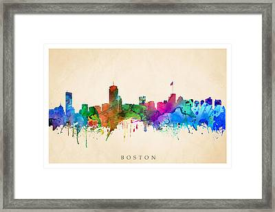 Boston Cityscape Framed Print