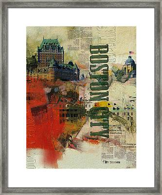 Boston Collage Framed Print by Corporate Art Task Force